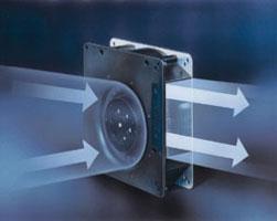 Von links axial lüfter kühlkörper mit lüfter radial lüfter